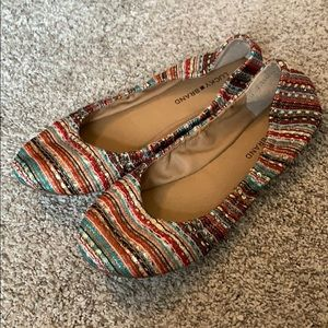 Lucky Brand Multicolor Fabric Flats Size 11